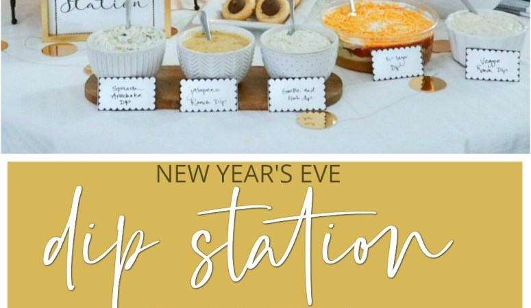 New Year's Eve Dip Station with Free Printable Cards!