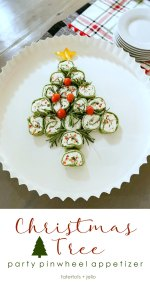 Christmas Party Pinwheel Tree Appetizer