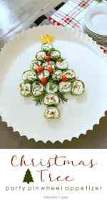 Christmas Party Pinwheel Tree Appetizer