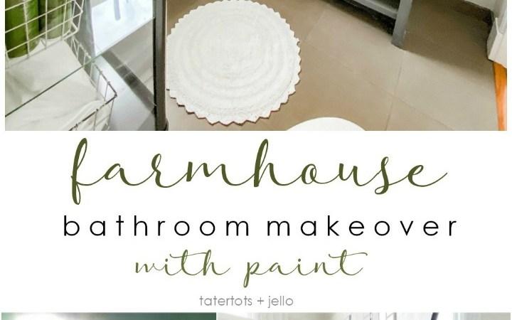Modern Farmhouse Bathroom Update with Paint!