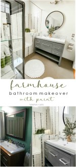 Modern Farmhouse Bathroom Update with Paint!
