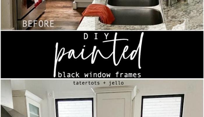 DIY Black Painted Window Frames