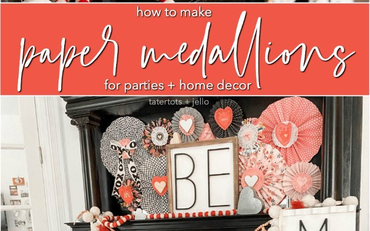 How to Make Paper Medallions for Parties and Home Decor