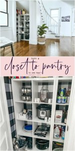 Turn a Closet into a Pantry
