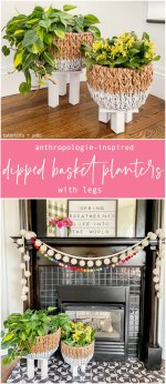 Anthropologie-Inspired Basket Planters with Legs