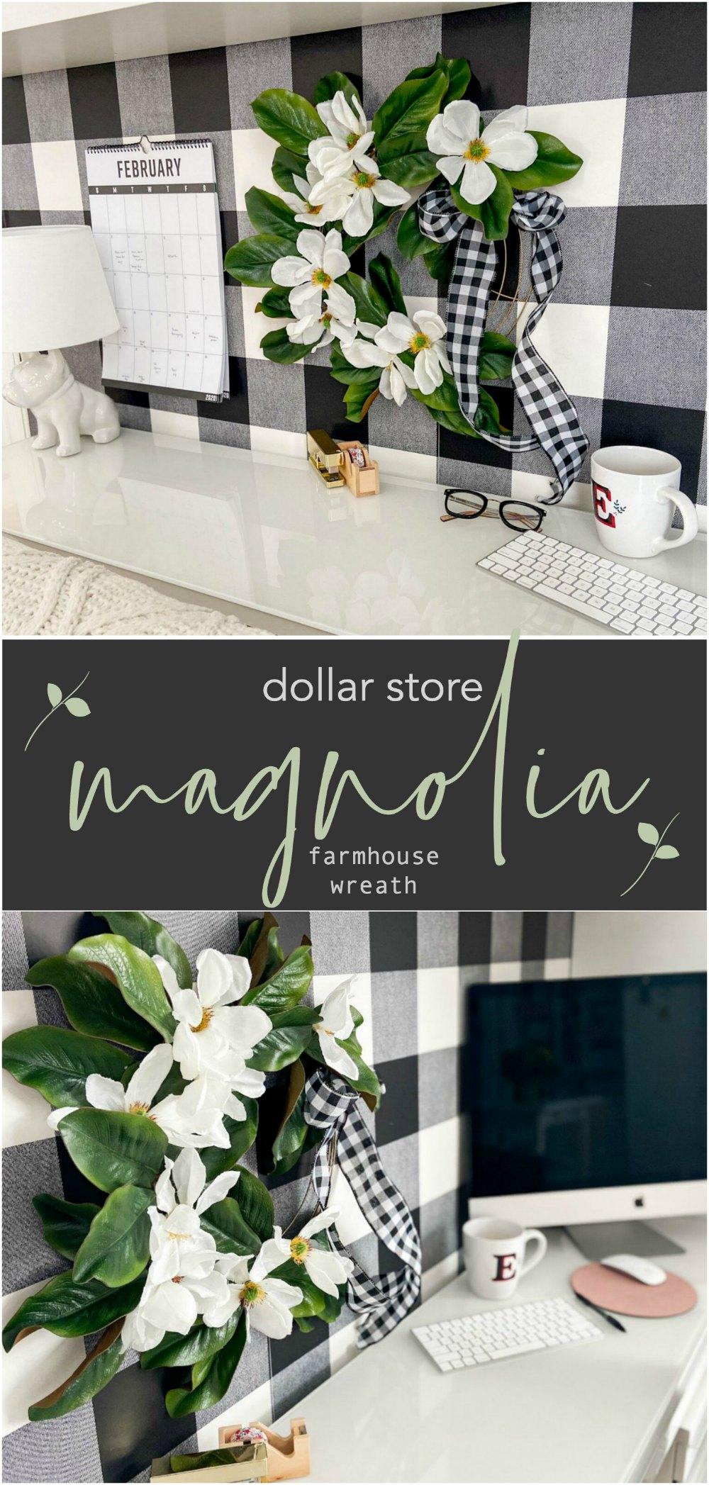 foto de Dollar Store Magnolia Farmhouse Wreath DIY + 18 Wreath Ideas