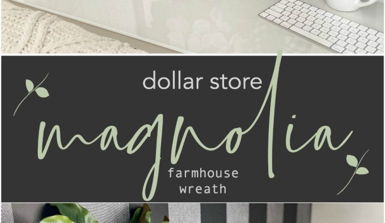 Dollar Store Magnolia Farmhouse Wreath