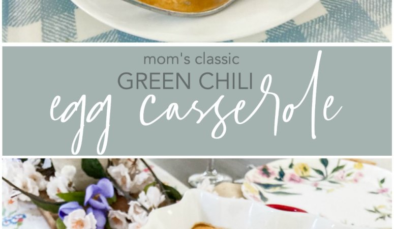 Mom's Classic Green Chili Egg Casserole
