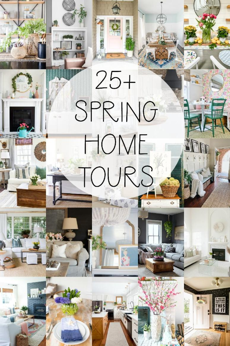 26 Spring Home Tours with easy ways to bring spring to your home!