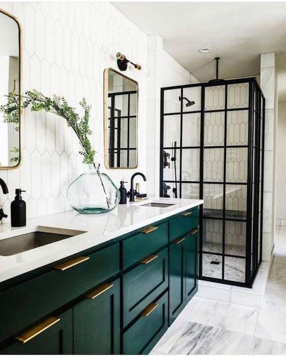 20 Modern Farmhouse and Cottage Bathroom Tile Ideas on Farmhouse Bathroom Tile  id=66815