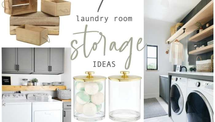 Seven Genius Ways to Bring Storage into a Small Laundry Room!