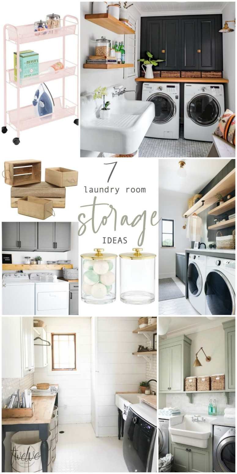 7 Genius Ways to Bring Storage into a Small Laundry Room on Laundry Room Organization Ideas  id=12631