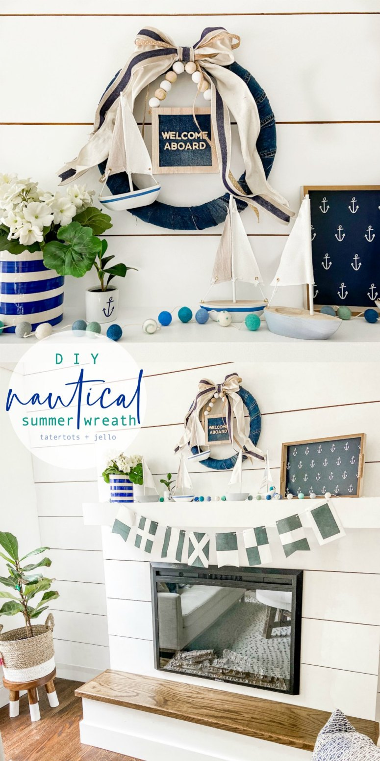 DIY Nautical Summer Cottage Wreath