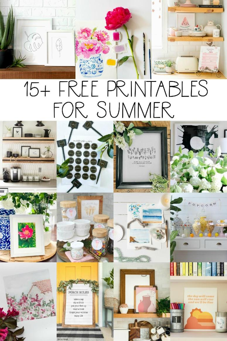 15+ free summer printables