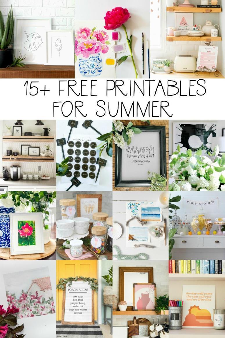 15+ free summer printables