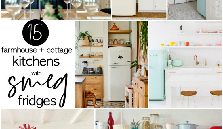 15 Farmhouse and Cottage Kitchens with Smeg Fridges