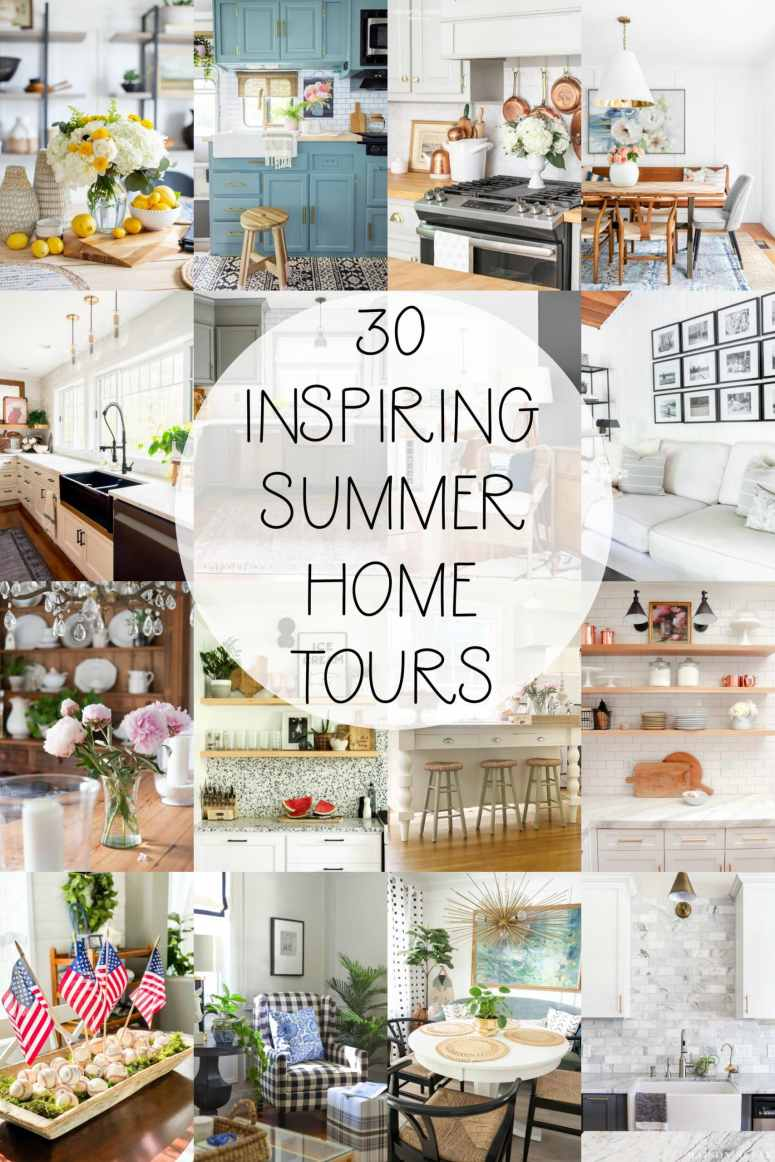 30 Inspiring Summer Home Tours. Grab the ideas and easy DIY projects to make YOUR home more beautiful for Summer!