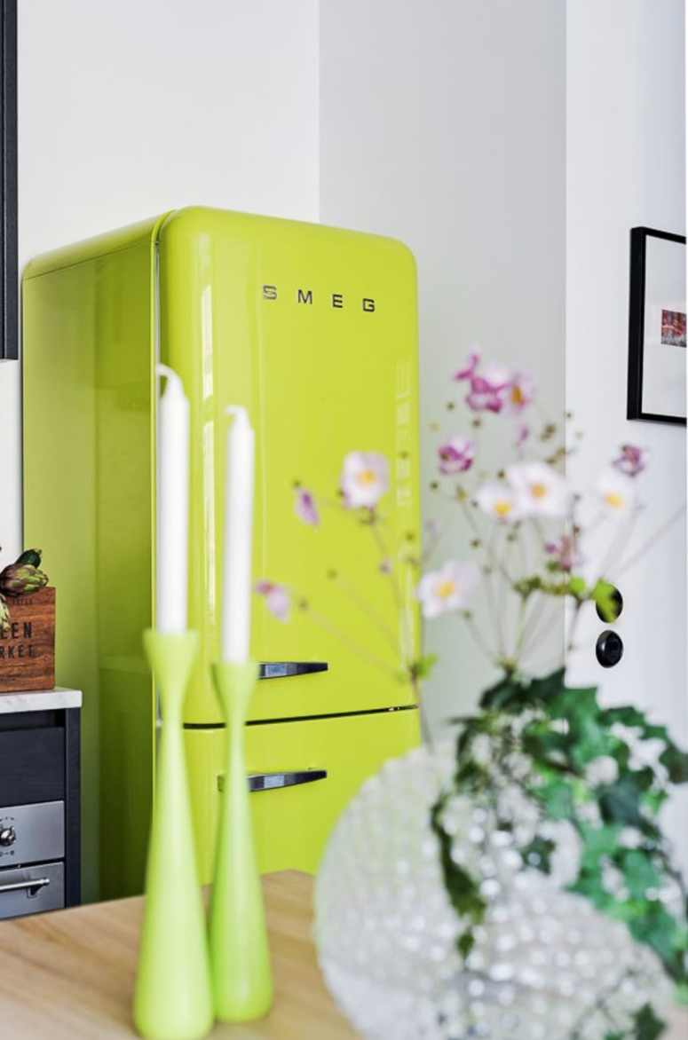 Lime Smeg Kitchen