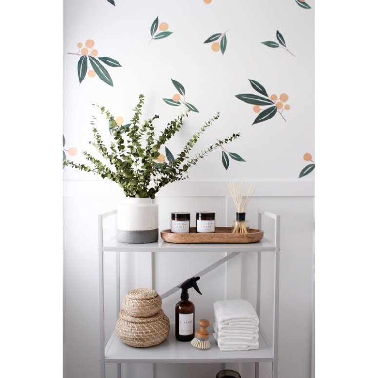 Tangerine and Greens decals at Wayfair