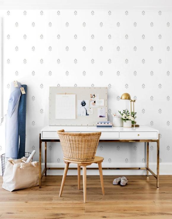 Wallshoppe Block Print Removable Wallpaper