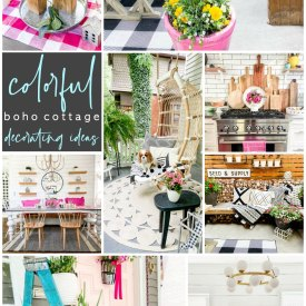 Colorful Boho Cottage Home Decoaring Ideas