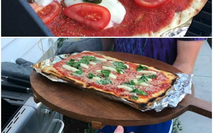 How to Grill Pizzas Outside!