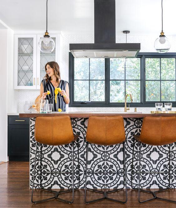 Kitchen Island Tile at Sunset Magazine
