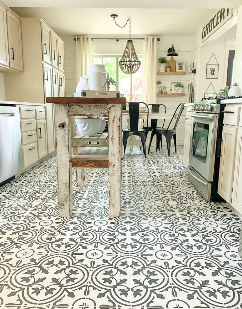 Sarah Joy Farmhouse Tile Kitchen Floor