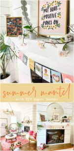 Bright Summer Mantel with DIY Paper Banner
