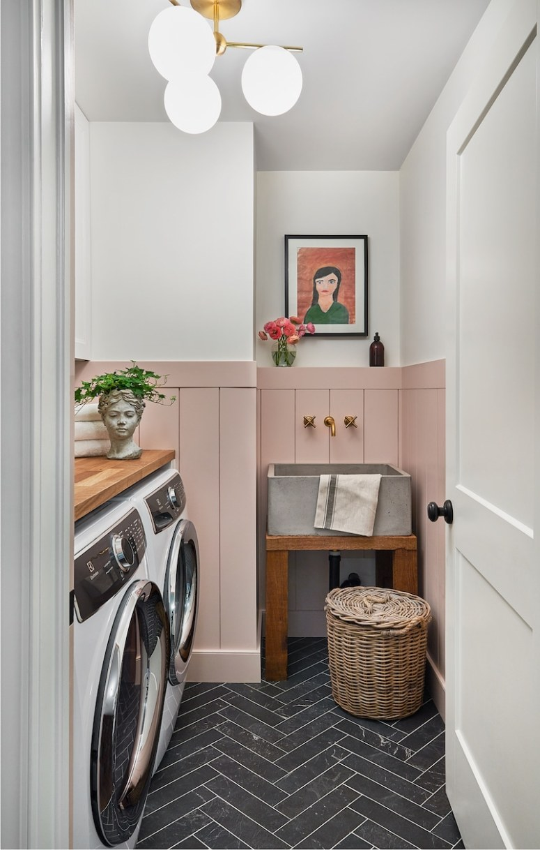 Tile Ideas for Modern Farmhouse and Cottage Laundry Rooms