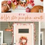 Fall Dollar Store Pumpkin Wreath Tatertots And Jello