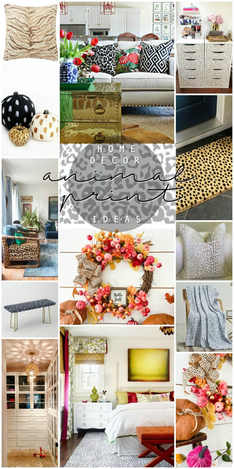Favorite Animal Print Ideas that I love this Week! I'm sharing my favorite projects, finds and what is making me smile this week!