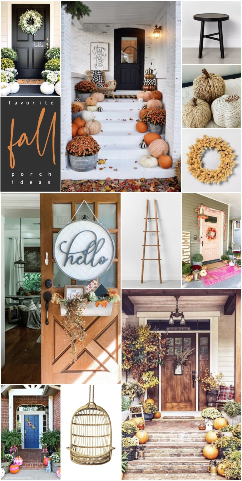 Favorite Early Fall Porches that I love this Week! I'm sharing my favorite projects, finds and DIY projects that are making me smile this week!