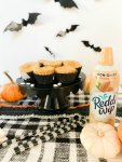 Keot pumpkin cheesecakes with almond milk whipped cream