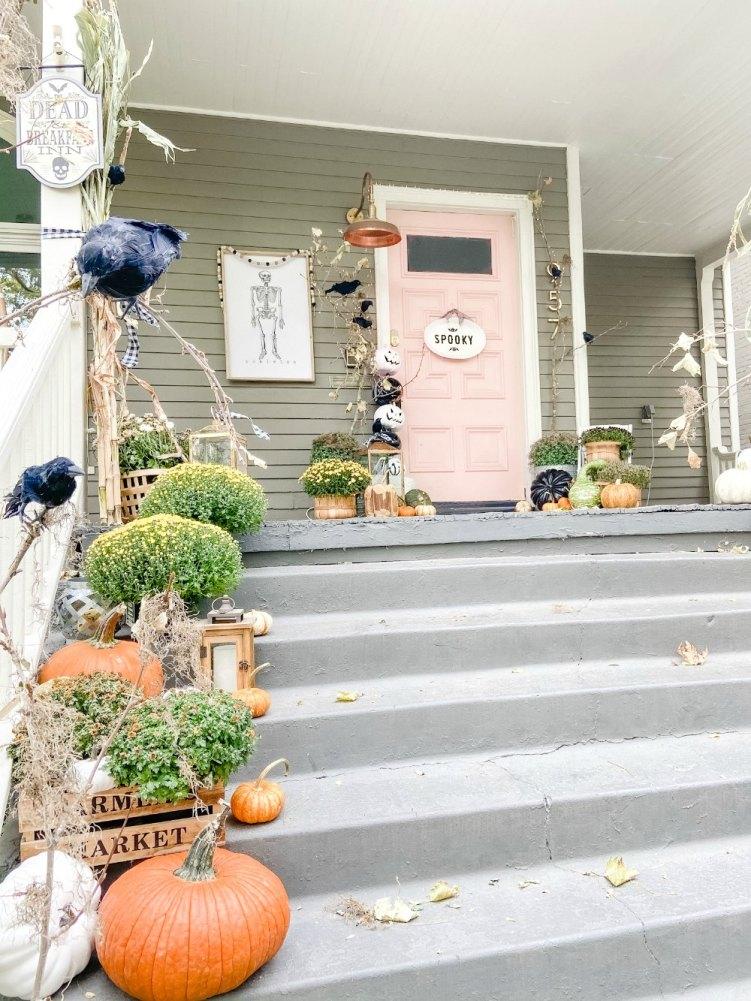 Porche effrayant d'Halloween