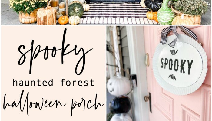 Halloween DIY Spooky Forest Porch