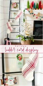 DIY Holiday Card Display Ladder