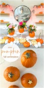 Mini Pumpkin Flower Arrangement Fall Centerpiece