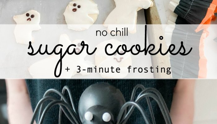 Ghost No Chill Sugar Cookies with 3 Minute Icing