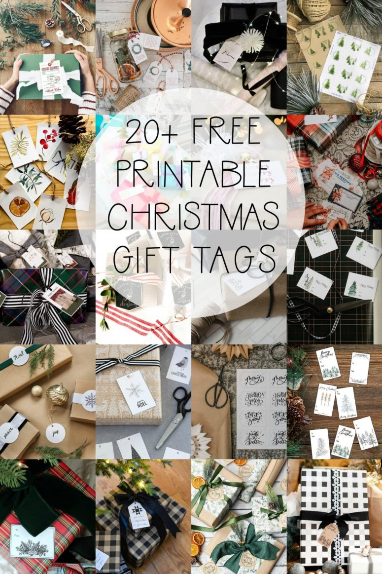 20 Free Christmas Printable Gift Tags