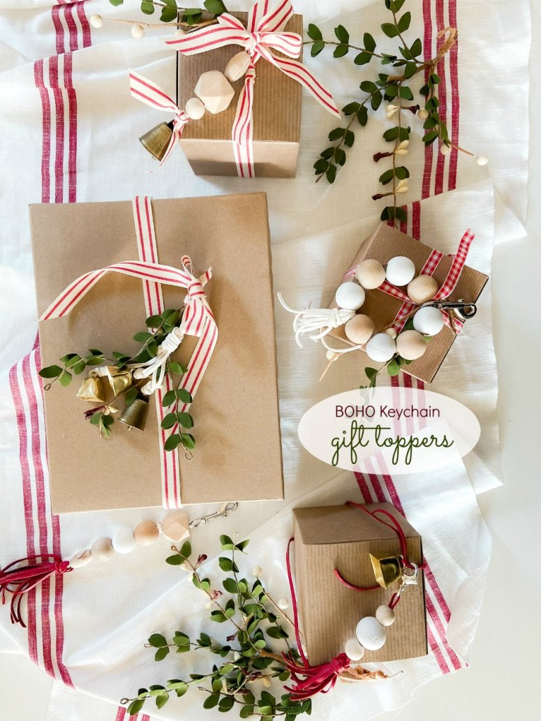 décorations de cadeau de porte-clés boho