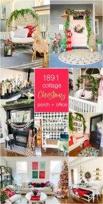 Visite de la maison de vacances du cottage - Décoration du porche et de l'entrée