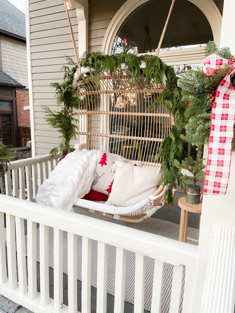 Christmas Porch Swing