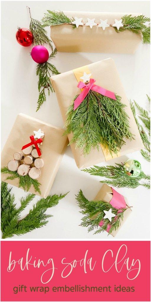Baking Soda Clay Gift Wrap Embellishments