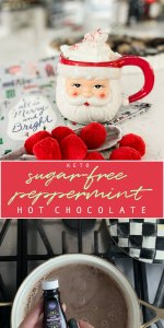 Keto Sugar Free Peppermint Hot Chocolate Recipe