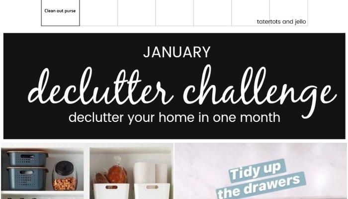 January Declutter Challenge 2021!