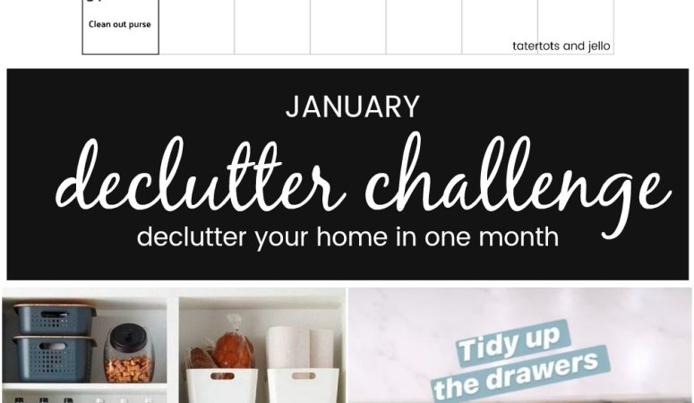 January Declutter Challenge 2021!