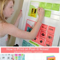 DIY Secret: How to Print on Post-It Notes (and Free Printable Template)