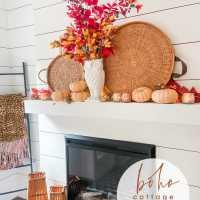 Boho Cottage Easy Fall Mantel Ideas