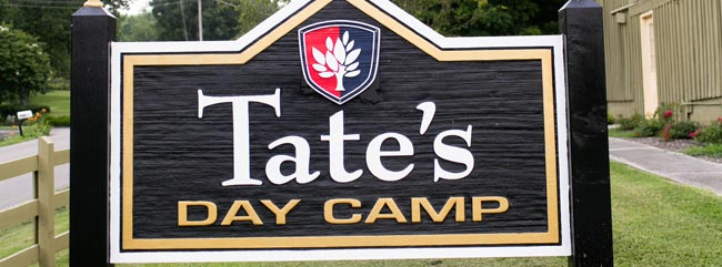 Tates Day Camp Sign